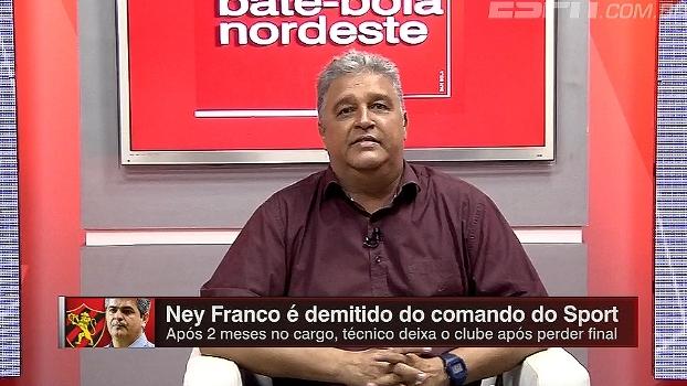 Léo Medrado: 'Sport precisa de um técnico de pulso, time é muito chinelinho'