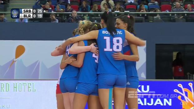 Sérvia passeia em cima da Bielorrússia e avança para a semifinal do Europeu feminino de Vôlei