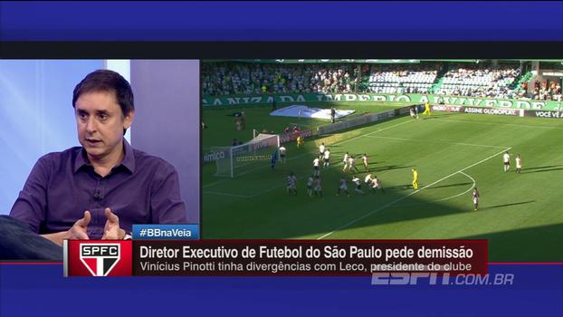 Tironi: 'Os ídolos do São Paulo estão acabando; estão todos indo para a fogueira'