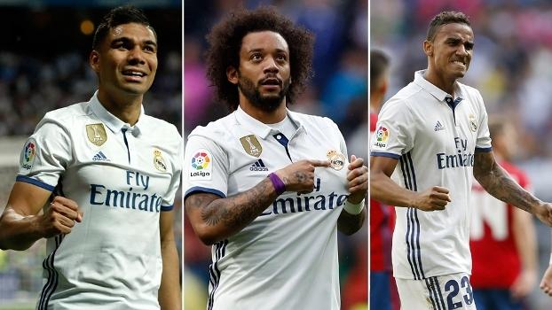 Como 'defensores' Casemiro, Marcelo e Danilo contribuíram para o título também no ataque