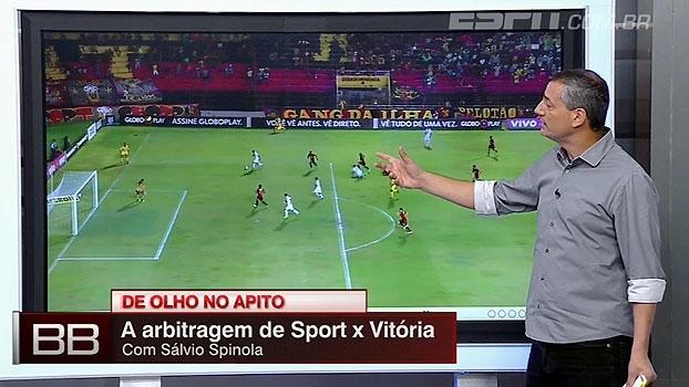 Gol impedido e mais: Sálvio Spinola analisa os lances em Sport x Vitória