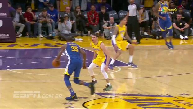 No dia de Kobe, Durant mata bola da vitória na cara de Lonzo Ball