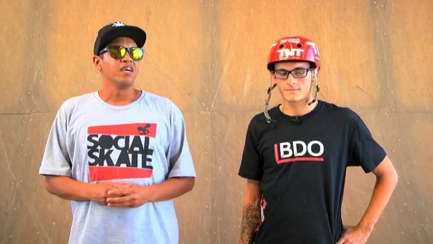 A visita da ONG Social Skate à rampa de Rony Gomes