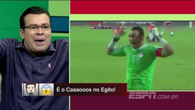 'Esfiha liberada!' Rômulo Mendonça encarna árabe e narra gol da classificação egípcia à Copa do Mundo