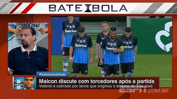 Maicon rebate xingamentos de torcedor em jogo do Grêmio; Alê Oliveira comenta