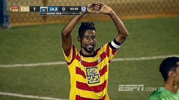 NASL: Leo Moura marca pela 1ª vez nos EUA, e Fort Lauderdale Strikers vence Jacksonville Armada