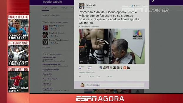 Calouro? Osório faz aposta no México e Chicharito raspa o cabelo do treinador
