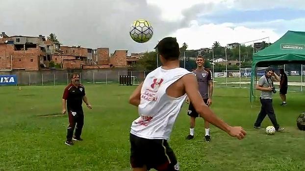 No Fazendão, São Paulo encerra preparação para enfrentar o Vitória