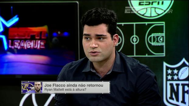 Antony Curti analisa ausência de Joe Flacco: 'Situação muito complicada no ataque dos Ravens'
