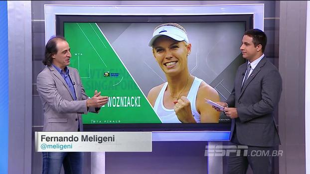Fernando Meligeni analisa Wozniacki após título do WTA Finals: 'Ela se reinventou um pouco'