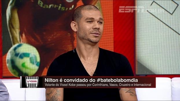 Jogando no Japão, Nilton diz que se surpreendeu com nível do futebol no país: 'Estão progredindo'