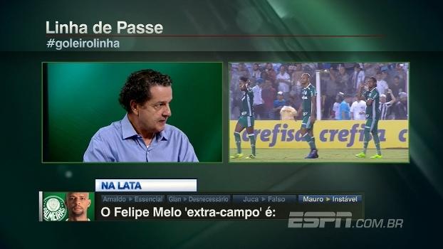 Juca detona Felipe Melo: 'Desregrado dentro de campo e falso fora'