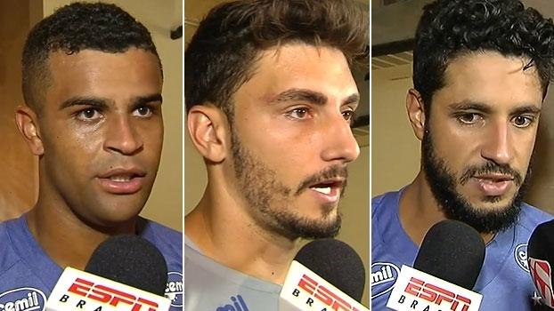 Jogadores do Cruzeiro comemoram vitória em 'jogo complicado' e projetam sequência difícil