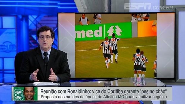Antero não aprova possível negócio de Ronaldinho Gaúcho com Coritiba: 'Não se comporta mais como atleta'