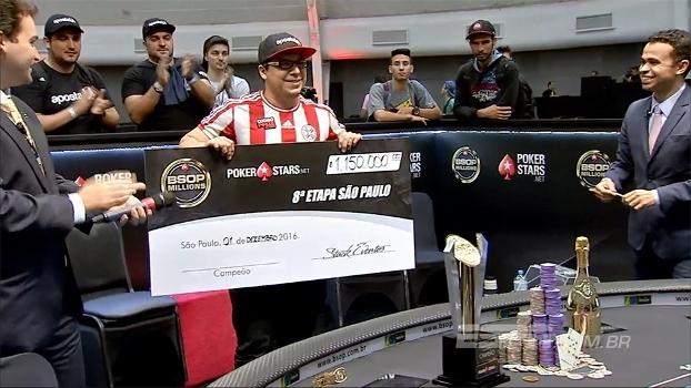 Paraguaio não se intimida com brasileiros e conquista o evento proncipal BSOP Millions