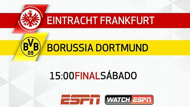 Final da Copa da Alemanha na ESPN e WatchESPN! Eintracht Frankfurt x Borussia Dortmund, neste sábado