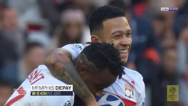 Com 2 gols de Depay, Lyon massacra Nice fora de casa