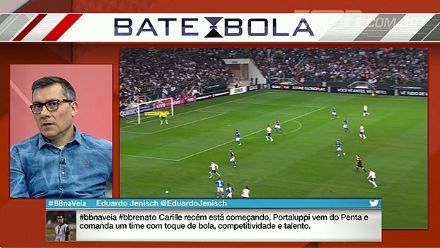 Calçade compara trabalhos e avalia: 'O Grêmio está um pouco na frente do Corinthians'