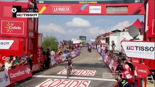 Veja o último quilômetro da 14ª etapa da edição da Volta da Espanha