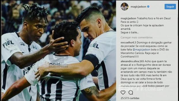 Mauro comenta resposta de Jadson em rede social   Se ele mesmo se intitula  mágico b0db5ca810ece
