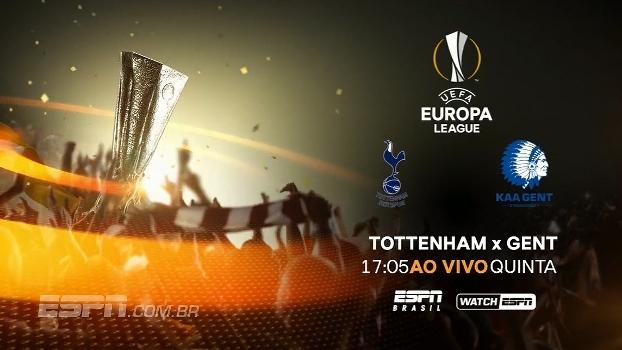 ESPN Brasil e WatchESPN mostram nesta quinta, 17h, Tottenham x Gent, pela Europa League