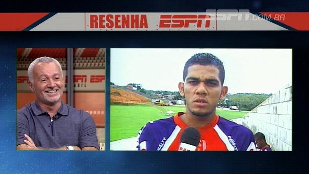Bobô relembra passagem de Daniel Alves pelo Bahia: 'Eu chamava ele de índio'