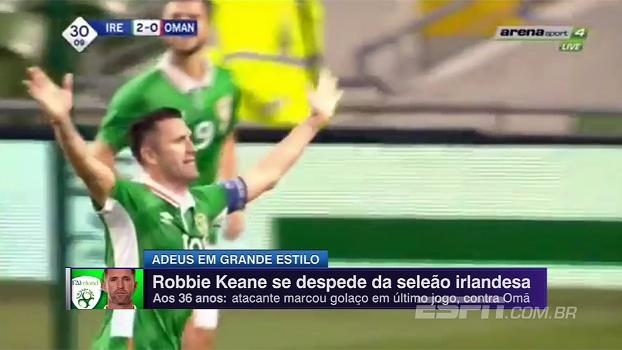 Aos 36 anos, Robbie Keane se despede da seleção irlandesa com golaço; assista