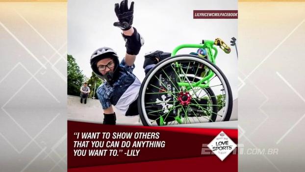 Com apenas 13 anos, Lily Rice supera as dificuldades e se torna segunda mulher a completar um backflip em cadeira de rodas