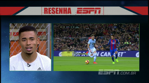 Gabriel Jesus chama Neymar de 'paizão' e afirma: 'É questão de tempo ele ser o melhor do mundo'