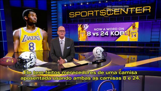 Apresentador da ESPN define a aposentadoria de ambos os números de Kobe Bryant como sua 'perfeita metáfora'; entenda