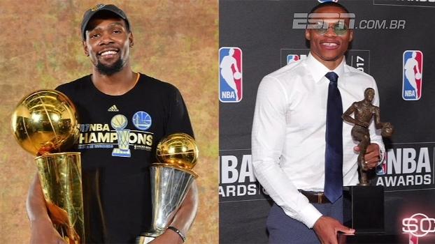 Um conto de dois MVP's com trajetórias diferentes: relembre a saga de Westbrook e Durant