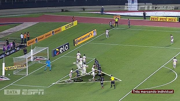 Tironi e DataESPN apontam falhas de marcação do São Paulo em gols sofridos em bola parada