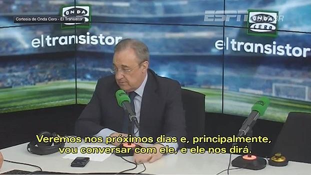 Presidente do Real Madrid mostra preocupação com possível saída de Cristiano Ronaldo: 'Preciso falar com ele'
