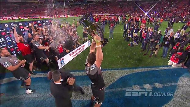 Crusaders vencem Lions por 25 a 17 e conquistam oitavo título do Super Rugby