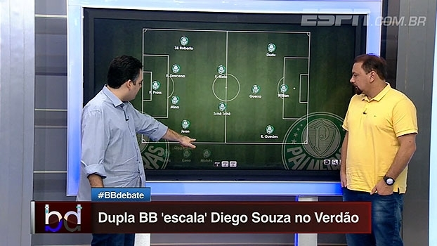Aonde Diego Souza jogaria no Palmeiras? 'Dupla BB' escala time com possível reforço