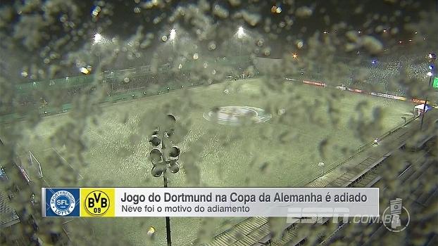 Veja nevasca que cancelou jogo do Borussia Dortmund na Copa da Alemanha