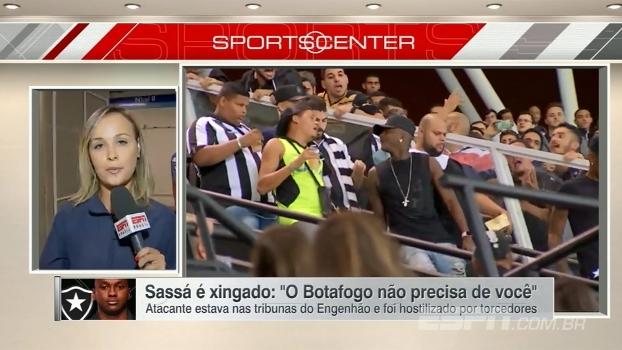 Sassá é hostilizado por torcedores do Botafogo nas tribunas do Engenhão