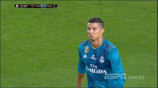 ea5fb6529d9cd Tempo real  Não valeu! Cristiano Ronaldo recebe linda assistência de  Casemiro