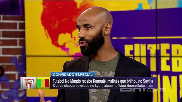 Kanouté revela admiração por brasileiros, elogia Luís Fabiano e Renato e brinca: 'No futebol de rua, sempre queria ser o Brasil'