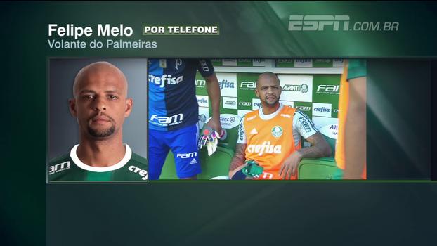 EXCLUSIVO: Felipe Melo reconhece 'cobranças' após jogo do Cruzeiro e esclarece situação com Cuca e vestiário do Palmeiras