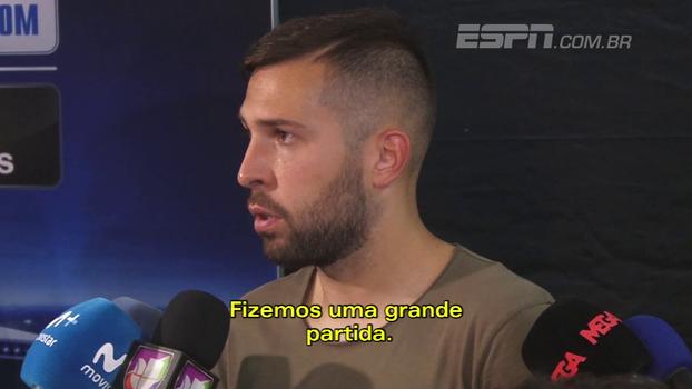 Jordi Alba elogia grande partida do Barcelona; Semedo exalta Messi e comenta início no clube
