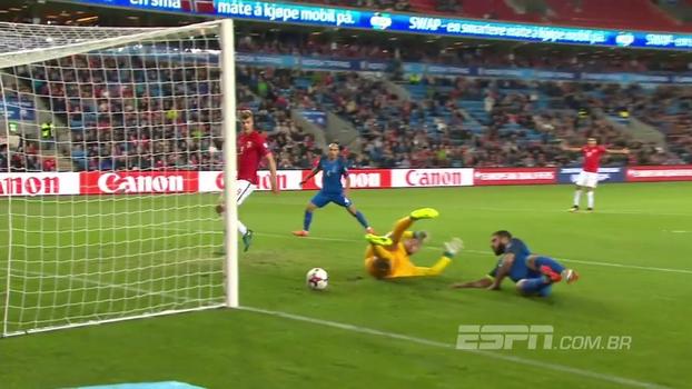 Azerbaijão 'entrega' duas vezes, e Noruega vence com gol de atacante do Bournemouth nas Eliminatórias