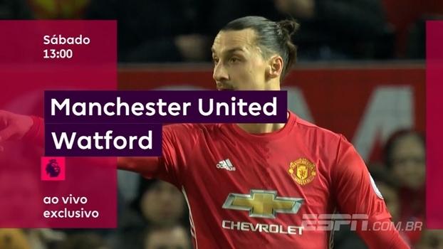É amanhã! Manchester United x Watford, às 13h, na ESPN+ e no WatchESPN. Premier League é só na ESPN!