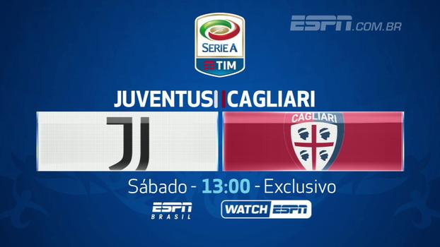 Neste sábado, não perca Juventus x Cagliari, EXCLUSIVO, às 13h, na ESPN Brasil e WatchESPN