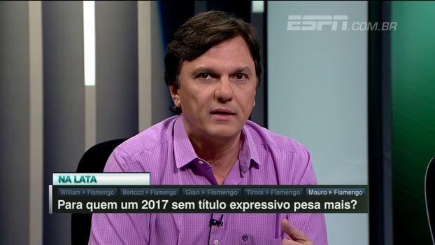 Para Mauro, 2017 sem título expressivo pesa mais para o Fla que para Palmeiras e Atlético: 'Tem uma dívida maior com a torcida'