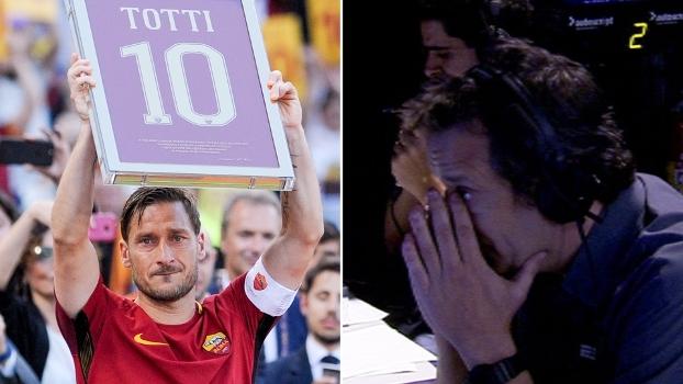 Lágrimas de um fã: Gian Oddi se emociona na despedida de Totti da Roma