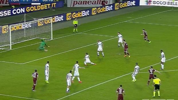 Tempo real: Defesaça do Handanovic! Belotti dispara bomba para gol da Inter e goleiro faz boa defesa com os pés