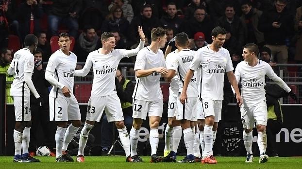 Francês: Gol de Rennes 0 x 1 Paris Saint-Germain
