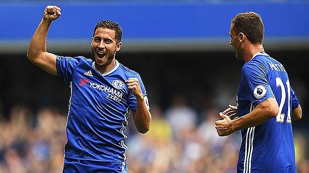 Passe de calcanhar, cruzamento de letra e gol; Hazard é o jogador da 3ª rodada do Inglês