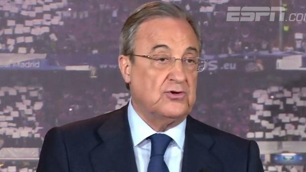 Reeleito presidente do Real Madrid, Florentino Perez exalta história e projeto esportivo do clube